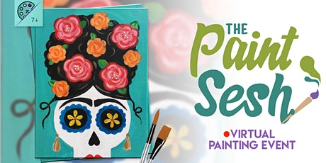 "Online Painting Class – ""Dia De La Frida"" (Virtual Paint Night at Home) tickets"