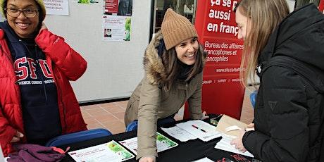 Tes opportunités en français à SFU tickets