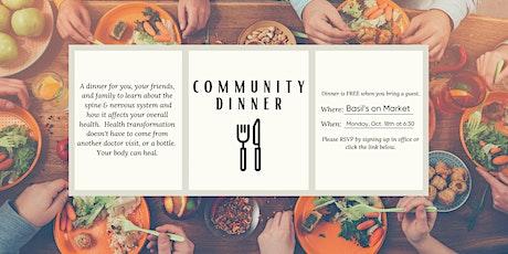 October Community Dinner tickets