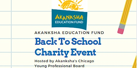 The Akanksha Education Fund - Back to School Charity Event tickets