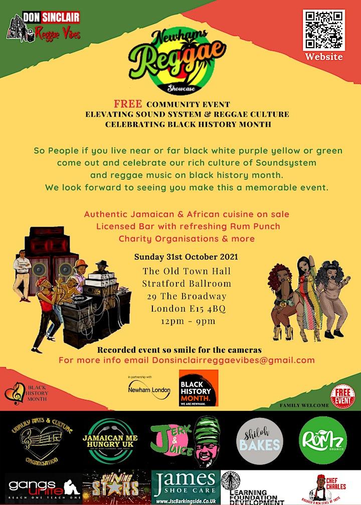 Don Sinclair Reggae Vibes Presents Newham's Reggae Showcase image