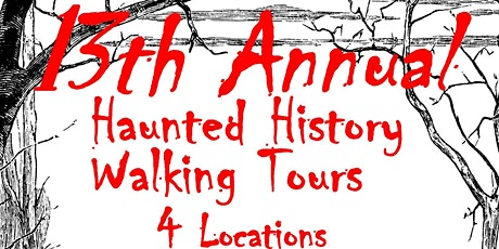 Haunted History Walking Tour  SATURDAY TOURS  7:00pm tickets