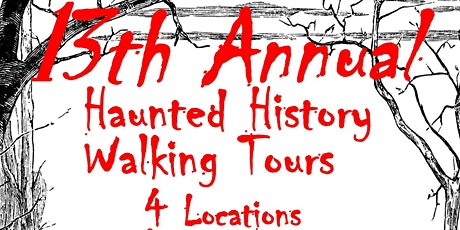 Haunted History Walking Tour  FRIDAY TOURS  6:00pm tickets