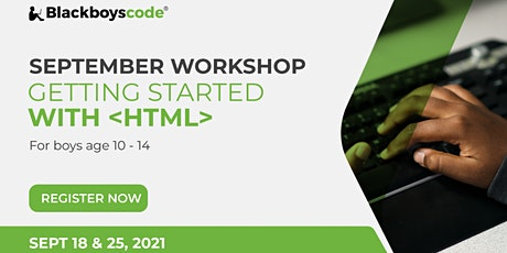 Black Boys Code Calgary - Getting Started with HTML tickets