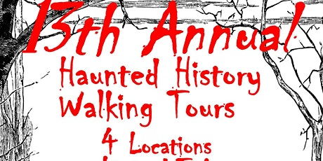 Haunted History Walking Tour  FRIDAY TOURS 6:20pm tickets