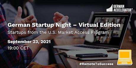German Startup Night - Virtual Edition - U.S. tickets