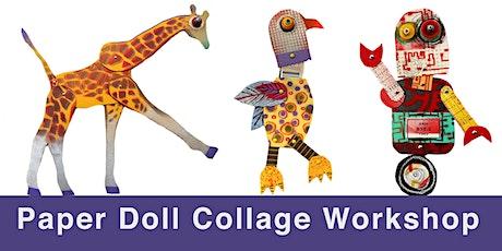 Paper Doll Collage Workshop / Art Dolls / Mixed Media Art / Dallas tickets