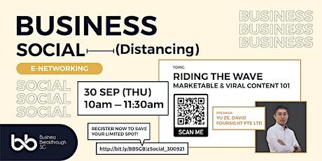 BBSG Business Social E-Networking tickets