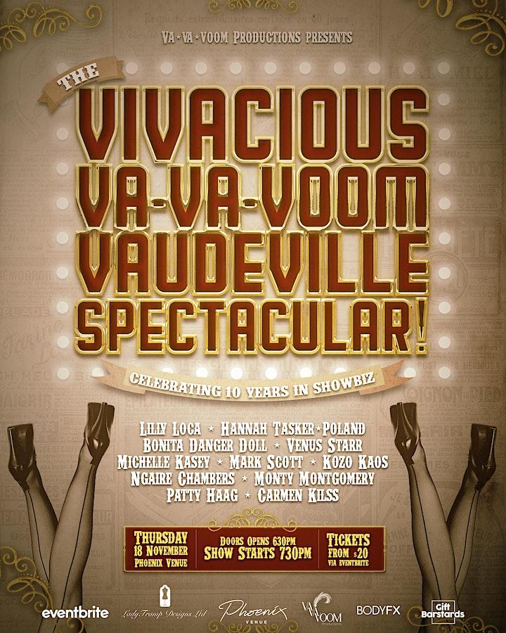 The Vivacious, Va-Va-Voom, Vaudeville Spectacular! image