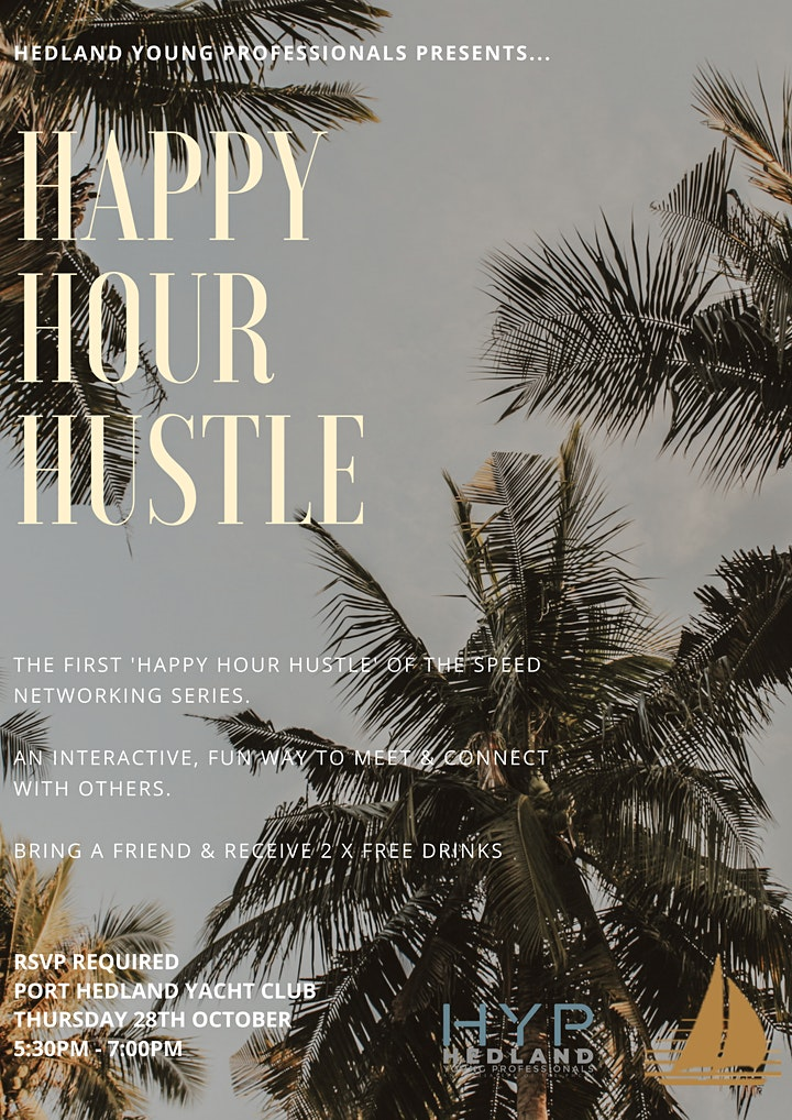 HAPPY HOUR HUSTLE - Speed Networking Series image