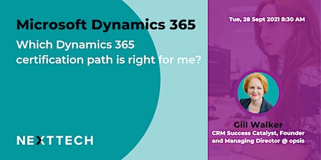 Which Dynamics 365 certification path is right for me? tickets