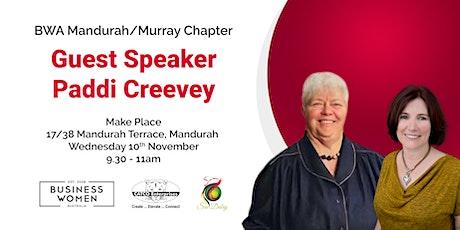 Mandurah/Murray, Business Women Australia: Guest Speaker, Paddi Creevey tickets