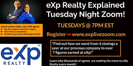 eXp Explain Presentation with ICON Luxury Agent Rod Obee tickets