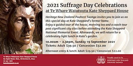 Suffrage Day Celebrations at Te Whare Waiutuutu Kate Sheppard House tickets