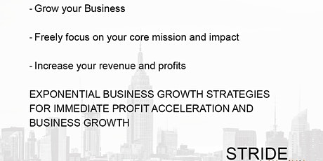 Exponential Business Growth Strategies  - How to scale up your Business tickets