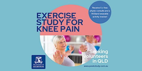 Physiotherapy & Exercise Study for Knee Pain - Brisbane tickets