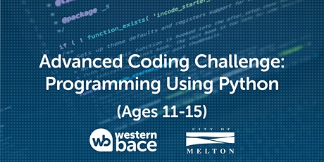 Advanced Coding Challenge (Ages 11-15) – Programming using Python tickets