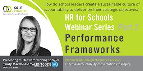 HR for Schools - Performance Frameworks tickets