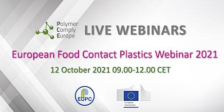 European Food Contact Plastics Webinar 2021 tickets