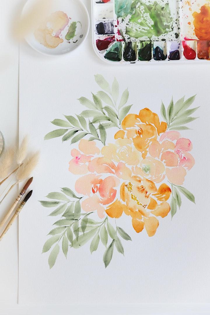Watercolor  Loose Florals Workshop mit Carrie: Bild