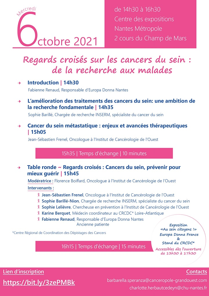 Image pour Regards croisés sur les cancers du sein : de la recherche aux malades