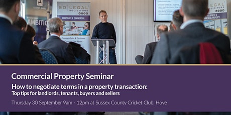 Commercial property: How to negotiate terms in a property transaction tickets