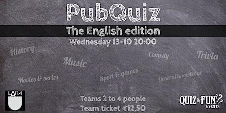 PubQuiz English edition | Eindhoven tickets