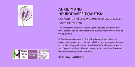 Anxiety and Neurodiversity/ Autism tickets