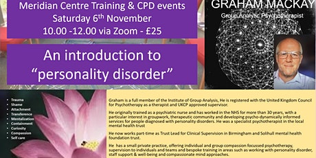 An Introduction to 'Personality Disorder' tickets