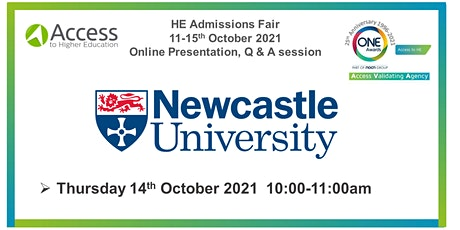 HE Admissions Fair - Presentation Q&A session - Newcastle University tickets