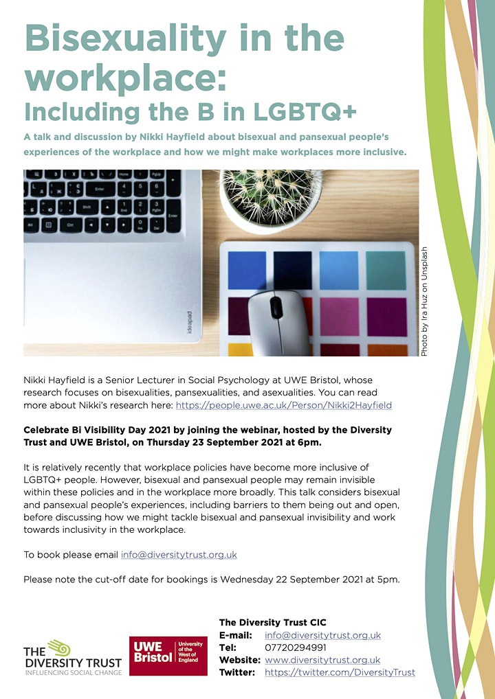 Bisexuality in the workplace: Including the B in LGBTQ+ image