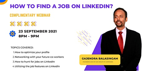 How to find a job on LinkedIn? tickets