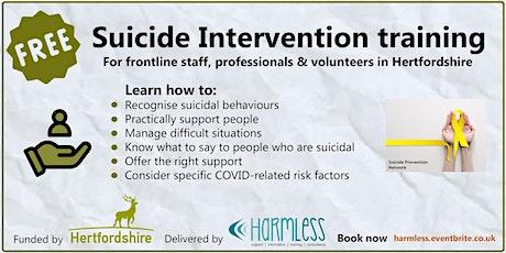 FREE Hertfordshire/Herts. Suicide Intervention training - ONLINE tickets