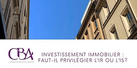 Investissement immobilier : faut-il privilégier l'IR ou l'IS? billets