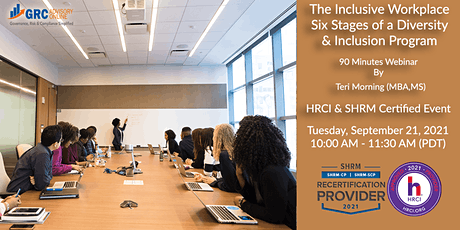 The Inclusive Workplace - The Six Stages of a Diversity & Inclusion Program tickets