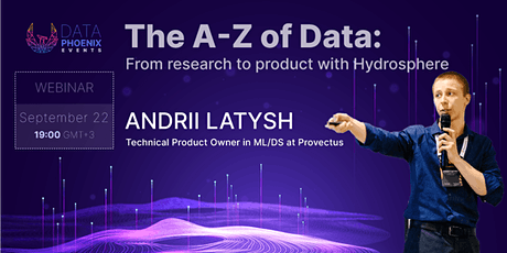 """Webinar """"The A-Z of Data: From research to product with Hydrosphere"""" tickets"""