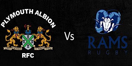 Plymouth Albion RFC V Rams RFC tickets