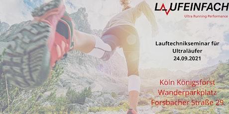 UltraRunning Performance Lauftechniktraining in Köln Königsforst tickets