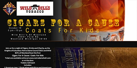 Cigars for a Cause: Coats for Kids tickets