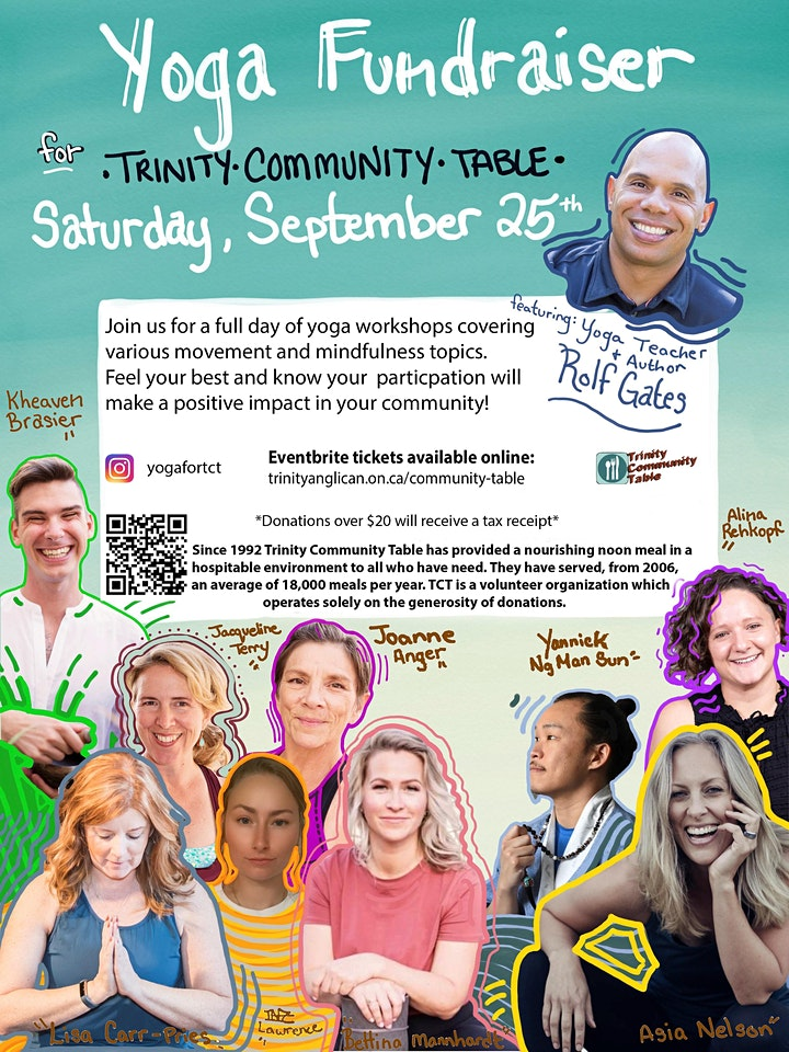 Yoga Workshops Fundraiser with all proceeds for the Trinity Community Table image
