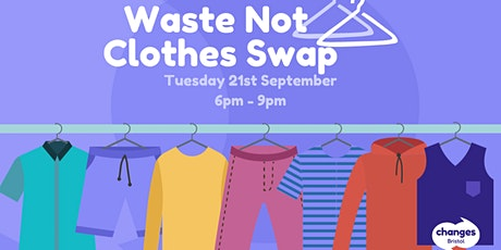 Waste Not Clothes Swap tickets