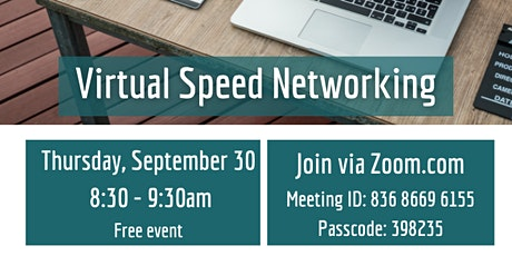 Virtual Speed Networking tickets