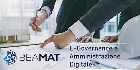 Corso: E-Governance e Amministrazione Digitale biglietti