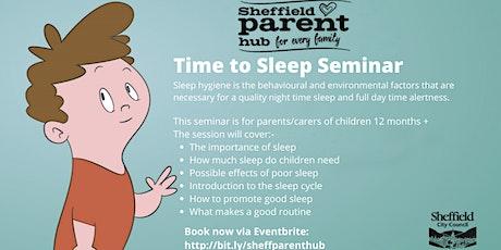 Seminar - Time to Sleep tickets