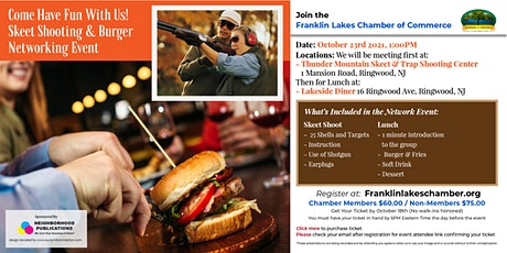 Skeet Shooting & Burger Networking Event (Franklin Lakes Chamber) tickets