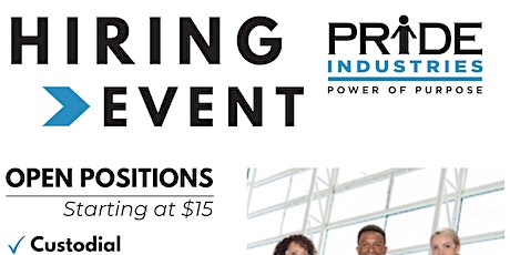 PRIDE Industries Open House - Now Hiring up to $22.50! tickets