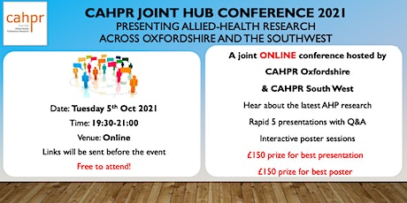 CAHPR Joint Hub Conference 2021: CAHPR Oxfordshire and CAHPR Southwest tickets