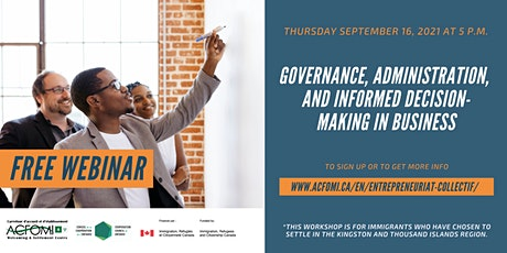 Governance, administration, and informed decision making in business tickets