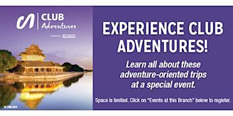 Join us for a Virtual Travel Event: Cultural Travel with Club Adventures tickets