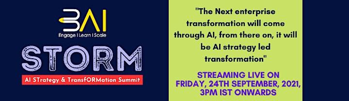 3AI STORM: AI STrategy & TransfORMation Summit image